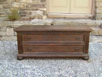 New England country pine two drawer storage chest c1900 to 1920