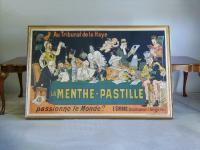 French lithograph poster for La Menthe Pastille