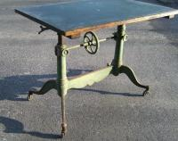 19th Century French drafting table with original paint c1880