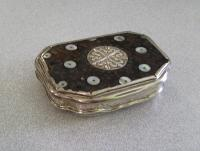 French silver and Tortoiseshell pique snuff box Grebeude c1723