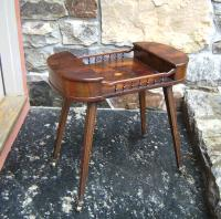 English yew wood oyster veneer stand c1900
