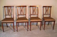 Set of four Inlaid Italian Directoire chairs c1880