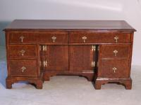 English burl elm Chippendale flat top desk c1780