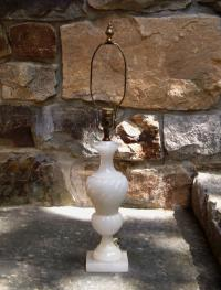 White alabaster lamp c1910