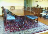 Vintage Baker dining table chairs and sideboard