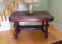 19th century American Victorian library table c1880