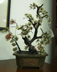19th century Chinese jade tree
