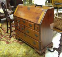 Early American Country pine slant front desk