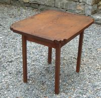Early single board work table New England c1800