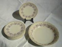 T and V French limoge porcelain salad set