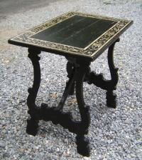 Small 19thc Spanish trestle table with painted top