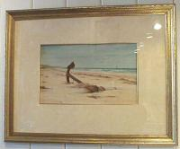 Dwight W. Tryon seascape water color beach