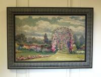 Painting of Elizabeth Park Hartford CT signed Frasher