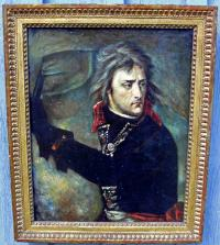 Portraiture on canvas of Napoleon I after Antonie Jean Gros