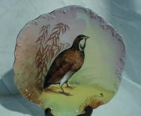 Antique Limoges porcelain game bird plate