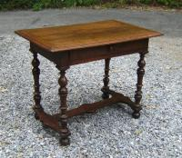 Louis XIV walnut table with drawer c1700