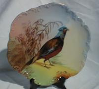 Limoges game bird plate signed by limoges