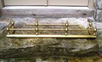 19th century solid brass fireplace fender