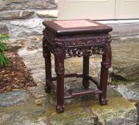 19th Century Chinese rosewood stand with marble top