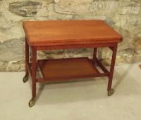 Danish Mid Century Modern coffee table tea cart c1960