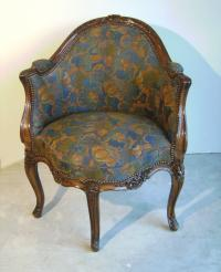 Reproduction 18th c French Rococo Louis XV style corner chair