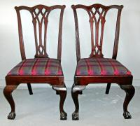 PR Centennial Philadelphia style Chippendale side chairs c1880