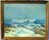 20th C seascape painting  M A K  Feldsberg