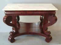 American Empire marble top pier or console table c1840