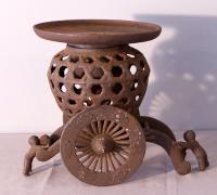 Japanese usabata cast iron garden ornament