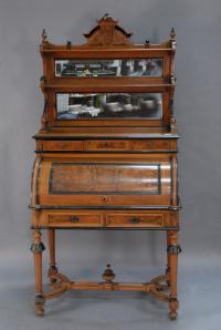 Victorian walnut cylinder desk c1880 CT Governor Henry Roberts