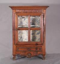 French walnut tabletop cupboard c1760