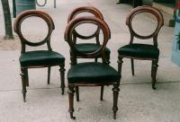 Set Antique English Victorian dining chairs