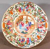 Chinese Rose Mandarin pattern porcelain charger c1820