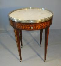 18th Century Louis XVI Period marble top bouillotte stand