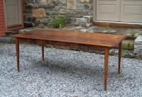 Handmade New England pine country kitchen table