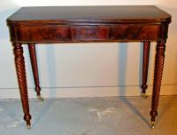 Boston Federal Period D shaped card table c1815