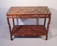 Chinese  inlaid rosewood console table c1820