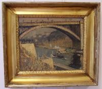 Hayley Lever East River Bridge NY oil painting on board