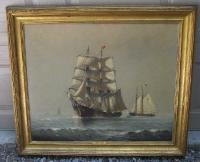 Marshall Johnson Coming Squall oil painting on canvas c1900
