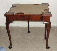 Queen Anne game or card  table mahogany c1780