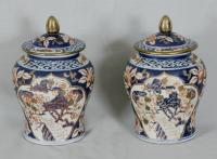 Pr Chinese export porcelain vases c1920