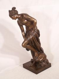 Edourad Henri Delesalle bronze sculpture  figure of a woman