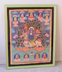 Tibetan thangka painting of Vajrapani