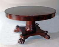 American Empire Period mahogany dining table c1825