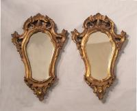 Vintage pair of Italian baroque wall mirrors c1900