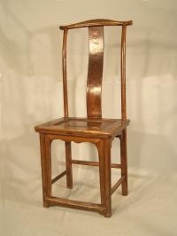 Early Chinese yoke back chair c1820