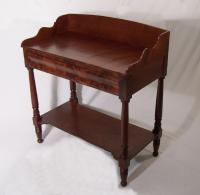 American Federal mahogany serving stand c 1825