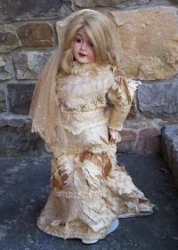 Laternier Limoges bisque headed doll