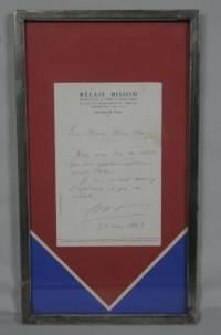 Signed letter from Georges Pompidou