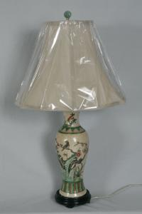 Chinese earthenware lamp c1900